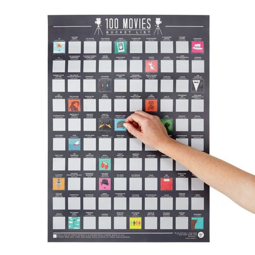 100 Movies Scratch Off Poster - Top Films of All Time Bucket List