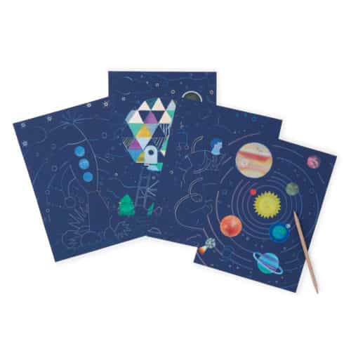 Cosmic Space Scratch Art Kit