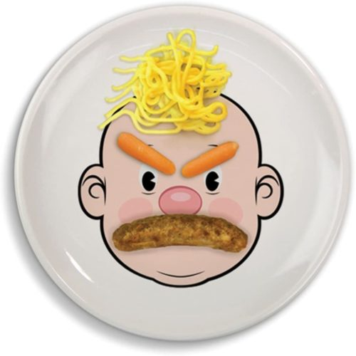 Mr. Food Face Ceramic Dinner Plate