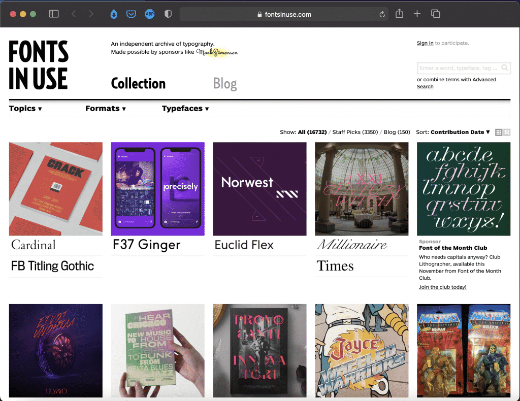 Fonts in Use | A Searchable Archive of Typographic Design | Abakcus