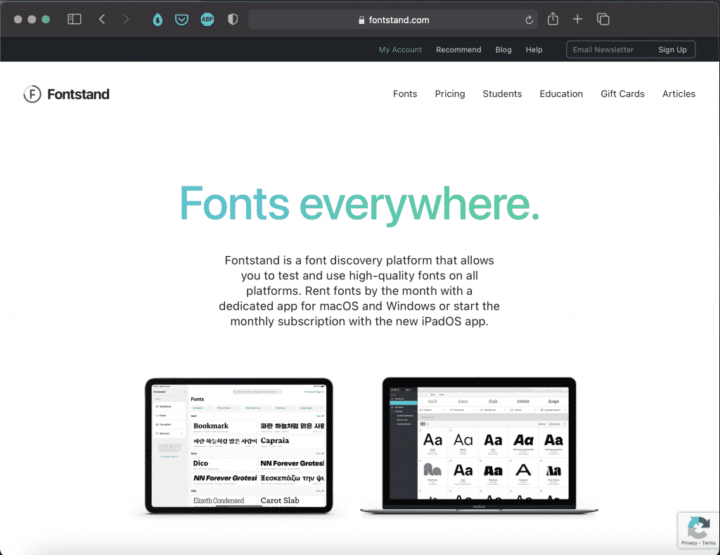 Fontstand | Try Any Font for Free | Tools | Abakcus