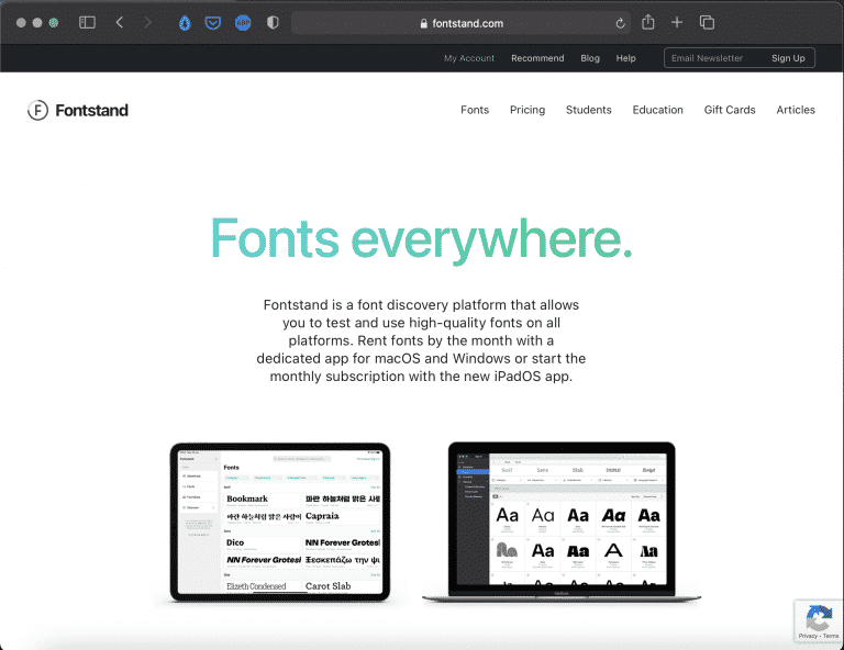 Fontstand   Try Any Font for Free   Tools   Abakcus