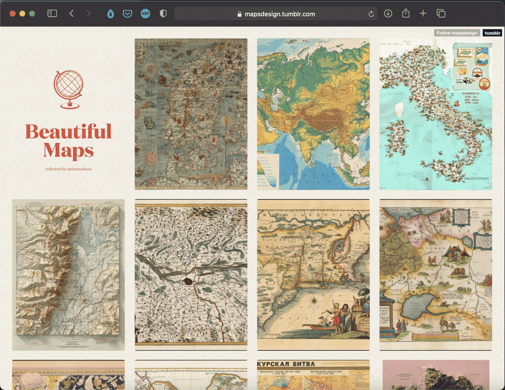 Beautiful Maps   A Collection of Beautiful Maps   Abakcus