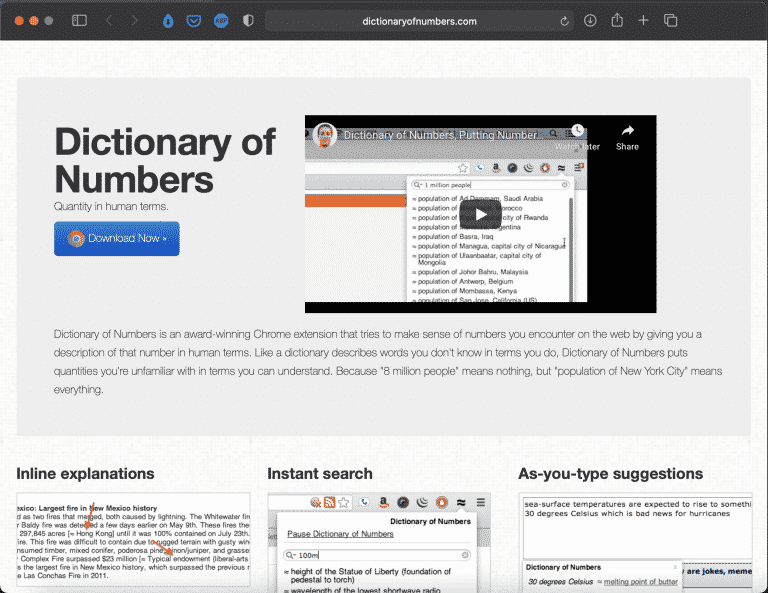 Dictionary of Numbers | Math Chrome Extension | Abakcus