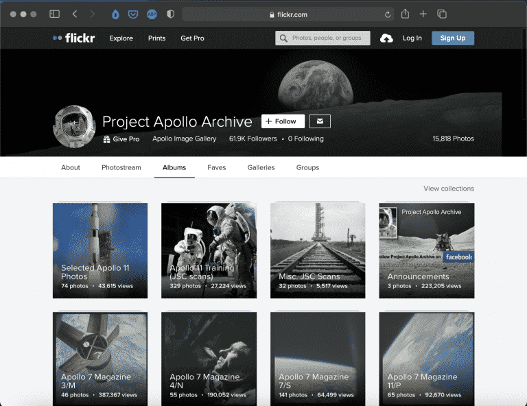 Project Apollo Archive | Beautiful Flickr Space Album | Abakcus
