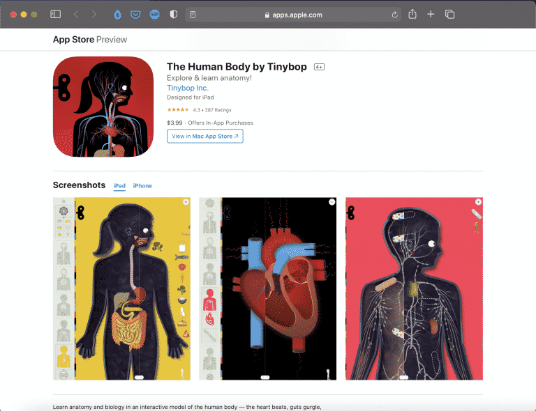 The Human Body by Tinybop   Explore & Learn Anatomy   Abakcus
