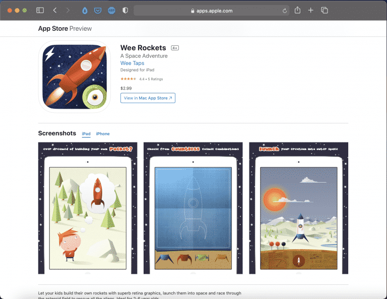 Wee Rockets | A Funny Space Game for Children | Abakcus