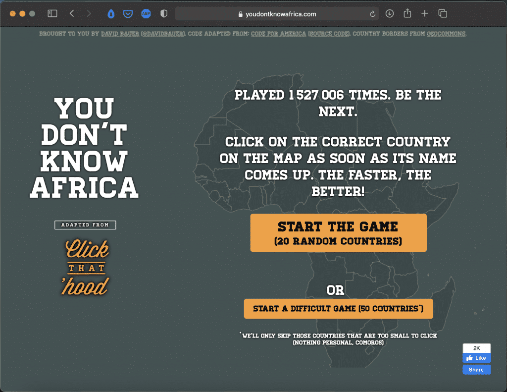 You Don't Know Africa   Challange Game   Abakcus