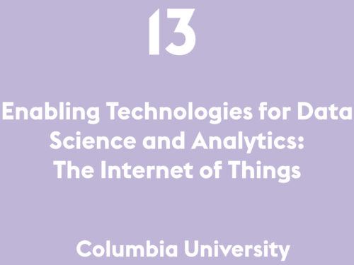 Enabling Technologies for Data Science and Analytics: The Internet of Things