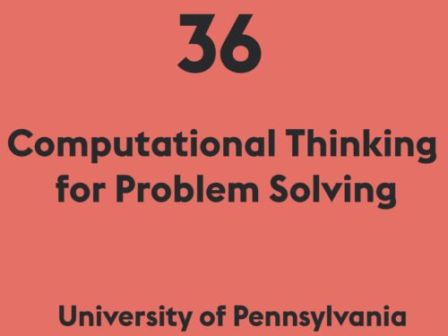 Computational Thinking for Problem Solving