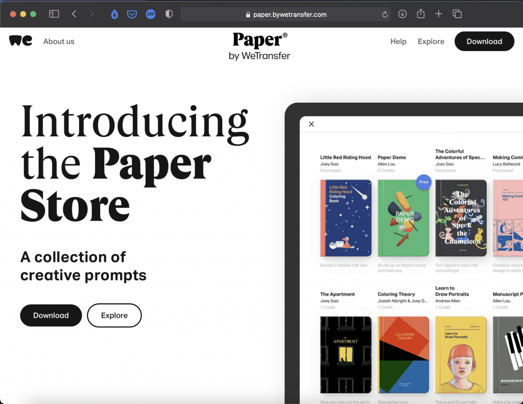 Paper by WeTransfer | Mesmerizing Drawing App | Abakcus
