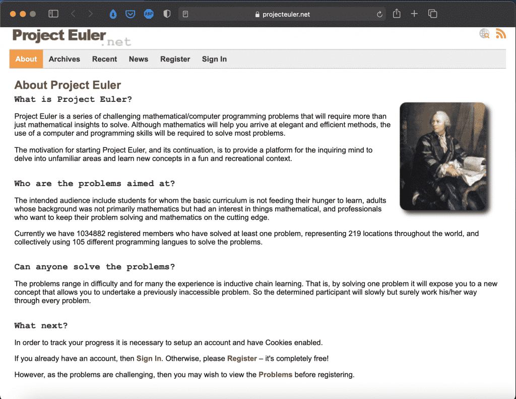 Project Euler | Tools - Educational Website | Abakcus