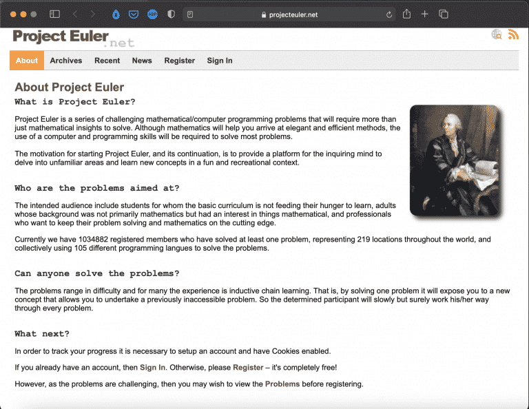 Project Euler   Tools - Educational Website   Abakcus