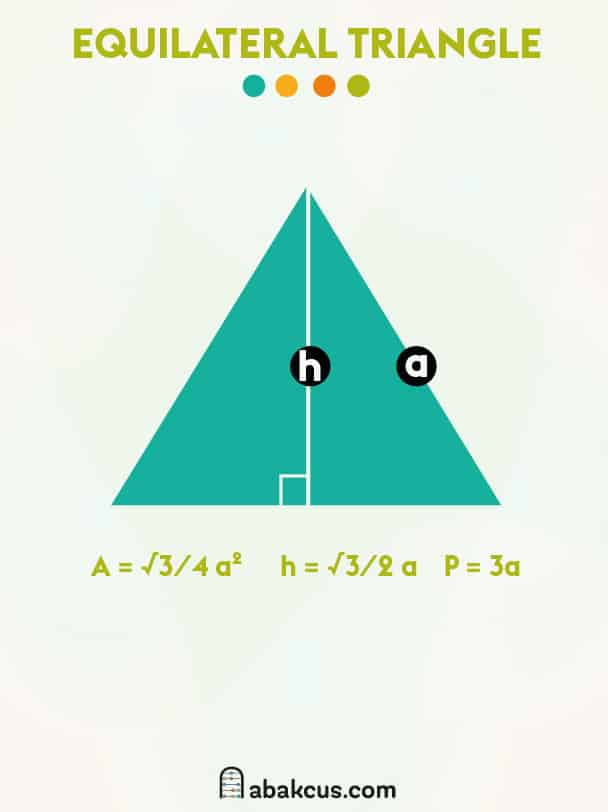 Area and Perimeter of an Equilateral Triangle