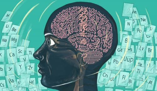 A Stanford team has developed an artificial intelligence program that recreated the period table of elements; they aim to harness that tool to discover and design new materials. (Image credit: Claire Scully)