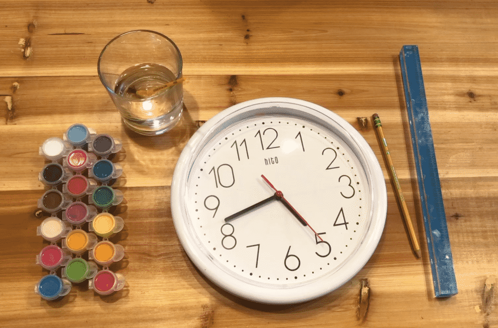 Color-Coded After School Routine Clock