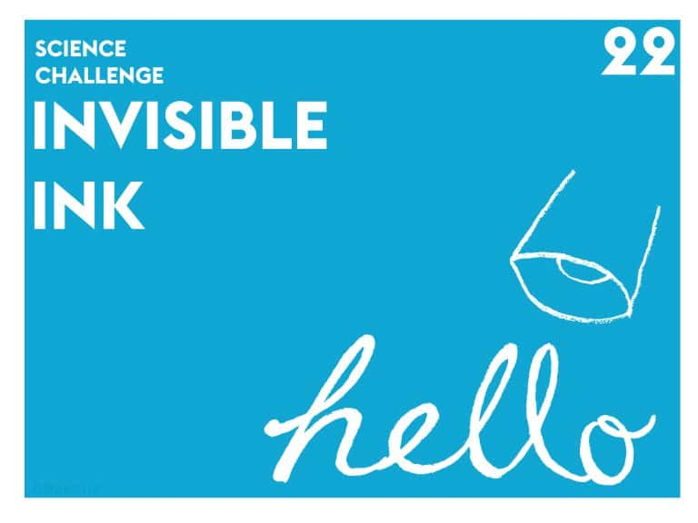 Invisible Ink Dyson Science DIY Project