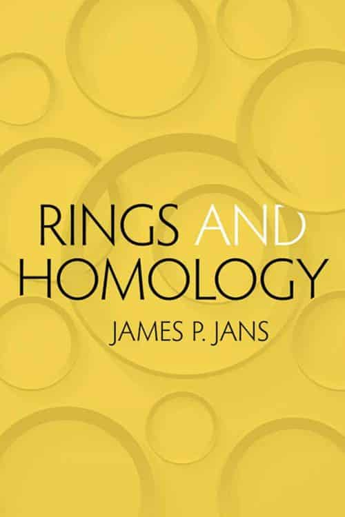 Rings and Homology James P. Jans Dover Books