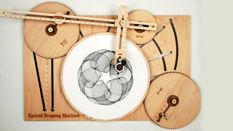 Joe Freedman's Amazing Cycloid Drawing Machine