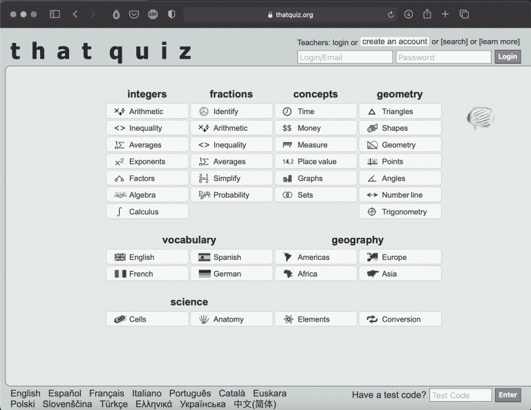 That Quiz | Websites for Teaching and Learning | Abakcus