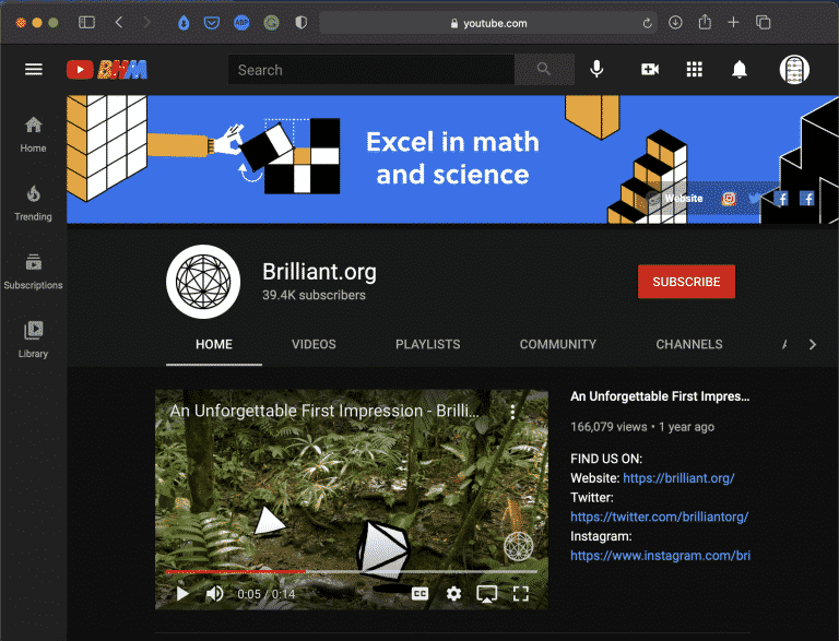 Brilliant.org   Best Youtube Math & Science Channel   Abakcus