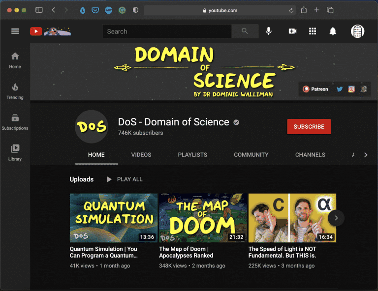 Domain of Science   Best Youtube Math & Science Channel   Abakcus