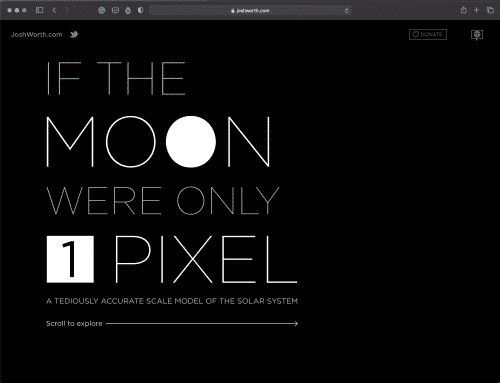 If the Moon Were Only 1 Pixel | Space Tool | Abakcus