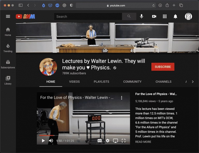 Lectures by Walter Lewin   Best Youtube Science Channel   Abakcus