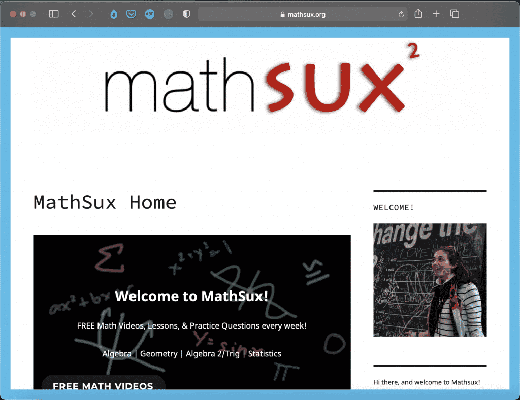 MathSux by Laura | Best Math Blogs Directory | Abakcus