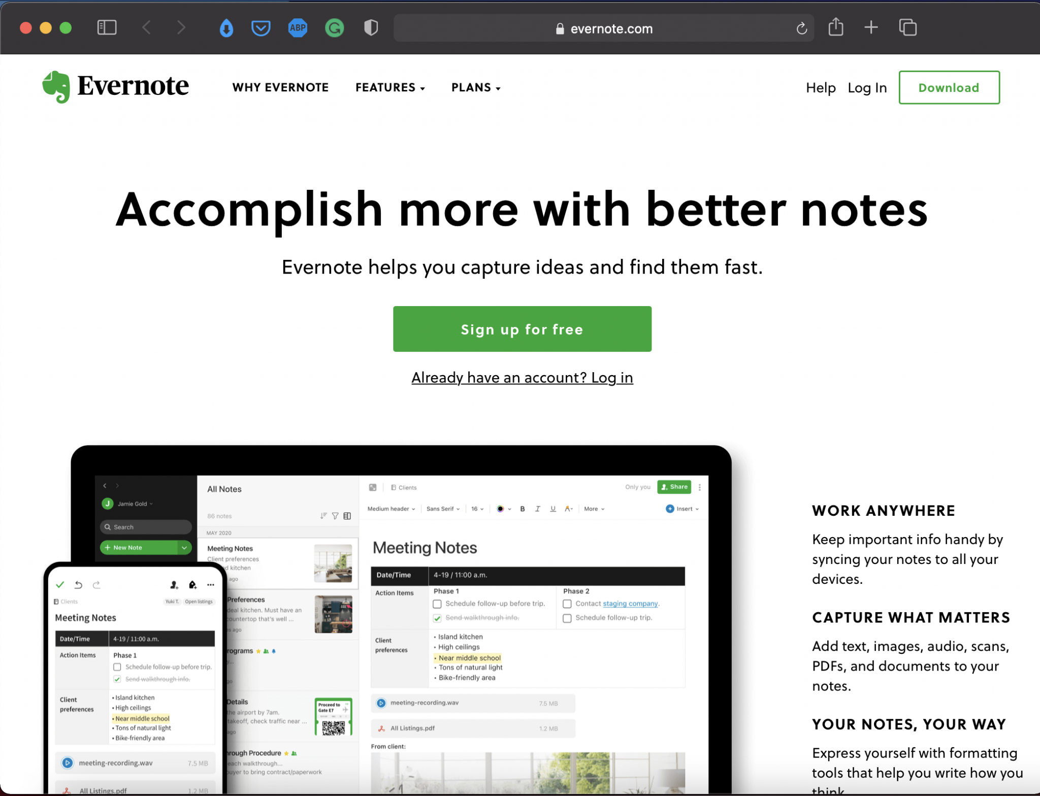 Evernote | Best Writing Applications & Tools | Abakcus