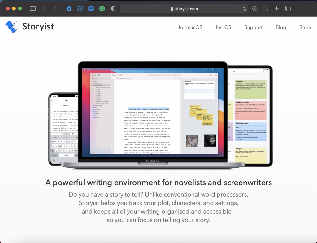 Storyist   Best Writing Applications & Tools   Abakcus