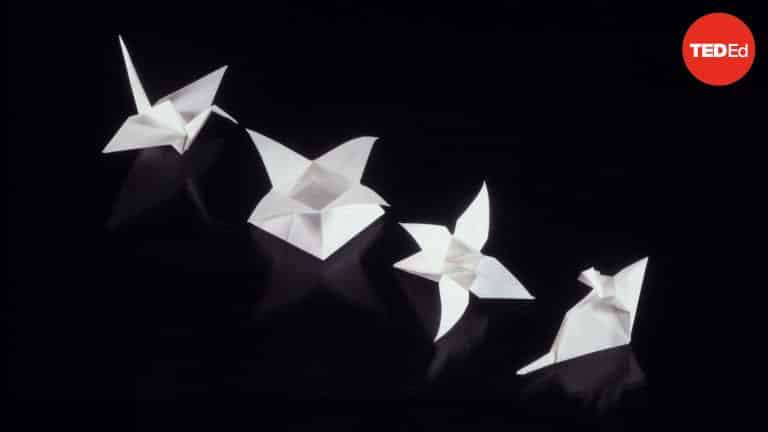 The Satisfying Math of Folding Origami | Math Video | Abakcus
