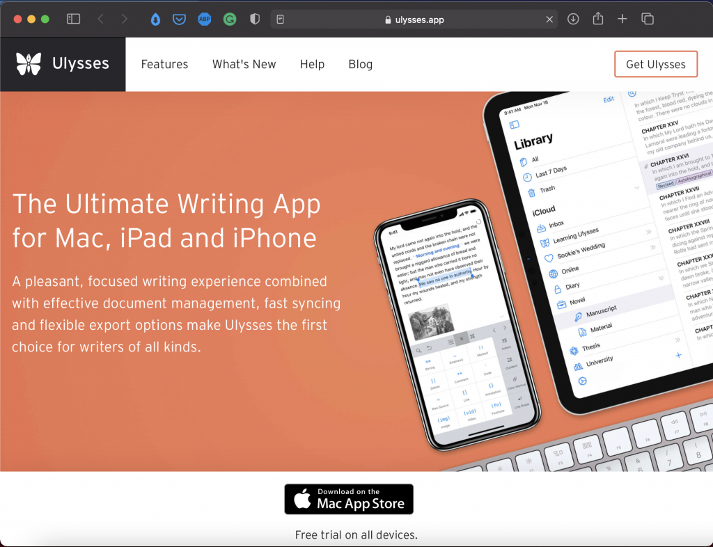 Ulysses | Best Writing Applications & Tools | Abakcus