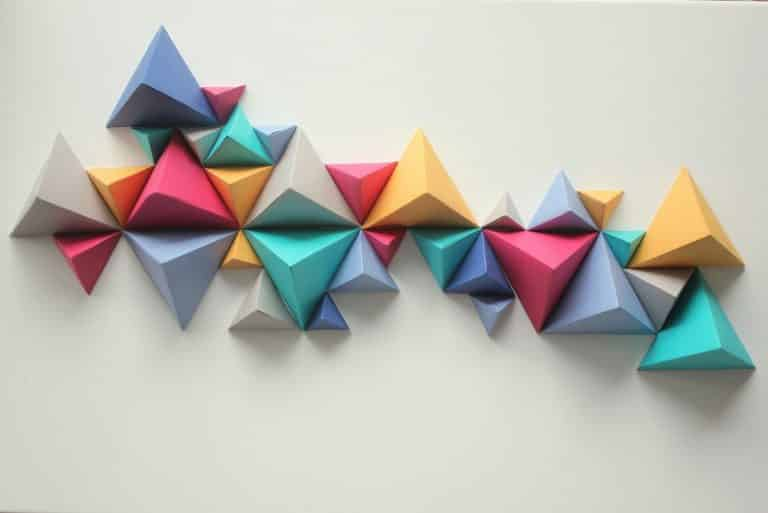 How to Make a Geometric Paper Wall Art? | DIY Project | Abakcus