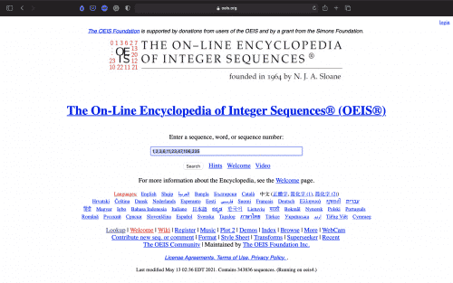 The On-Line Encyclopedia of Integer Sequences | Tools | Abakcus