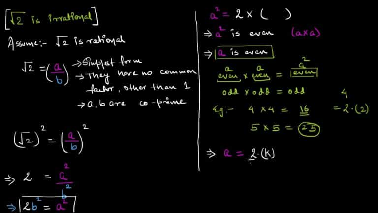 Proof That Square Root of 2 is Irrational | Video | Abakcus