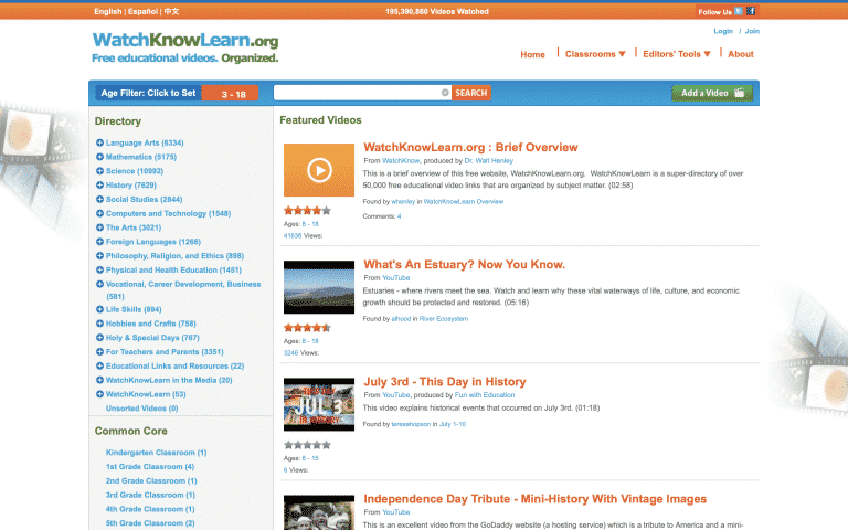 WatchKnowLearn | Online Tools for Teachers | Abakcus