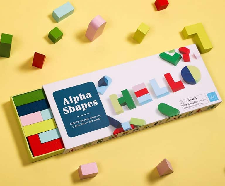 Alpha Shapes Colorful Wooden Block Letters | Kids Toys | Abakcus